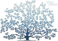 Artecy Cross Stitch. Winter Tree Silhouette Crossing Cross Stitch Pattern to print online.