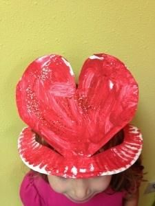 Valentine heart crown for preschoolers.  Because preschoolers love crowns!  It is the best to see their expressions in the mirror and the prancing around that occurs after!!