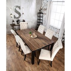 Inspiring Modern Dining Room Design Ideas – Decorating Ideas - Home Decor Ideas and Tips Farmhouse Dining Room Table, Dining Table Design, Dining Room Furniture, Dining Tables, Furniture Design, Wood Tables, Rustic Table, Side Tables, Chair Design