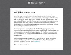 Apple Developer Portal has been down since last Thursday.  Find out what this means for #ios developers and #apps  #apple