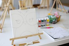 kids birthday painting party - LOVE this idea!  via Ashley Ann... resources from Social Artworking (at home canvas painting resource)