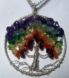 Tree of Life  Custom Tree of Life  Gemstone Tree  by mandalarain, $40.00