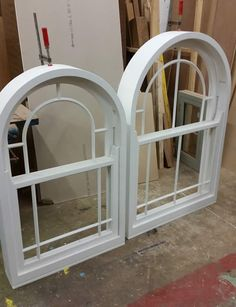 White Arched Sash Windows in Merrin Joinery Nottinghamshrie Workshop Sash Windows, Arched Windows, Large Windows, Window Manufacturers, Shaped Windows, Window Types, Wooden Windows, Listed Building, Joinery