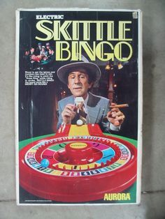 Vintage 1973 Battery Operated SKITTLE BINGO GAME by Aurora Maxwell. Totally unused and in mint condition in the original box. Vintage Board Games, Bingo Games, Retro Toys, Classic Toys, Back In The Day, Childhood Memories, Aurora, Star Wars, Games