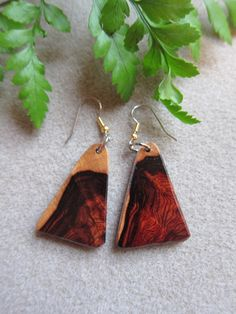 Unuique Khamphi Rosewood Exotic WoodDangle by ExoticWoodJewelryAnd