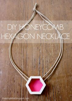 "That's My Letter: ""H"" is for Honeycomb Hexagon Necklace using the Rockwell Bladerunner from That's My Letter Blog"