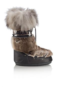 Jimmy Choo MB CLASSIC- LEATHER WITH RABBIT FUR AND FOX FUR- BLACK NATURAL (3)