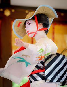 雀踊り(Sparrow dance) 祇園祭 舞踊奉納 KYOTO,JAPAN