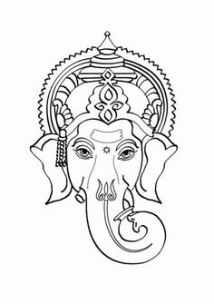 Lord Coloring Pages For Kids Kids Network Lord Bal Ganesh Ganesha Drawing, Ganesha Painting, Tanjore Painting, Ganesha Art, Ganesh Tattoo, Pencil Art Drawings, Art Drawings Sketches, Elefante Tattoo, Watercolor Paintings Abstract
