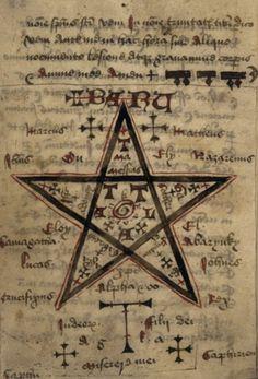 Medieval necromantic manuscript), Leinster monastery, 15th century, Ireland.