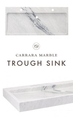 You are looking to redecorate a shared bathroom but don't want to give up style—we get it! That's where this Polished Carrara Marble Trough Sink comes into play, it acts as a double sink while still keeping the look of the bathroom light and modern.