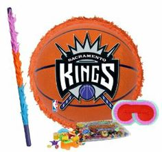 "Sacramento Kings Basketball - Pinata Party Pack Including Pinata, Pinata Candy and Toy Filler, Buster and Blindfold by Pinata. $42.05. Sacramento Kings Basketball - Pinata measures approximately 17"" in diameter and 3"" deep. Includes approximately 2 pounds of Candy and Toys. Caution: not recommended for children under 3 years of age. Includes one hard Plastic Pinata Buster that measures approximately 30"". Caution: use only under adult supervision. Includes one Blin..."