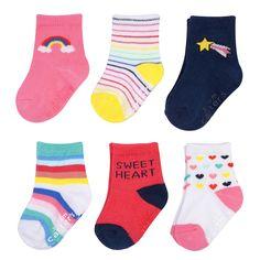 Carters 3-pk.Heart Print Crew Socks Multi