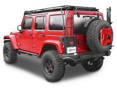AEV Premium Rear Bumper in Textured Black for 07-up Jeep® Wrangler & Wrangler Unlimited JK