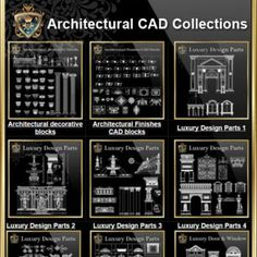 【All Building Elevation CAD Drawing Collections】 All CAD .DWG files are compatible back to AutoCAD Spend more time designing, and less time drawing!Best Collections for architects,interior designer and landscape designers. Architecture Design, Chinese Architecture, Architecture Drawings, Amazing Architecture, Stairs Architecture, Truss Structure, Steel Structure, Renzo Piano, Casa Farnsworth