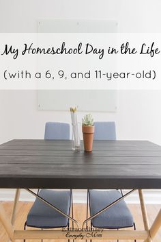 A look into one family's homeschool day for the 2016-2017 School Year