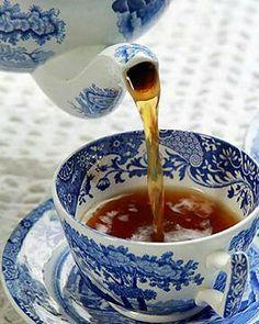 Tea in Spode's Blue Italian
