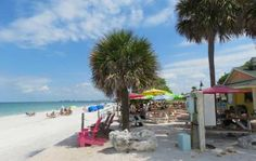 Beach bar. Pass A Grille, one of Florida's best beaches in a charming historic town