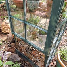 Old Window Greenhouse, Build A Greenhouse, Side Garden, Garden Paths, Garden Projects, Garden Ideas, Garden Ornaments, Architectural Salvage, Wedding Humor