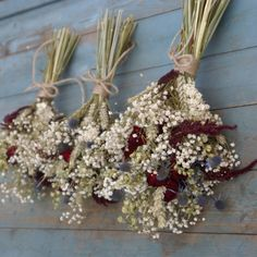 Rustic dried bouquet look