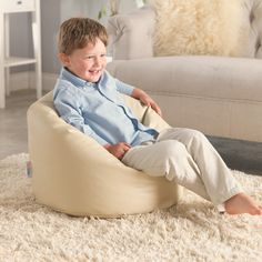Toddler Bean Bag - Faux Leather