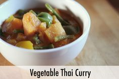 Vegetable Thai Curry Recipe