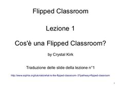 Flipped class lezione 01