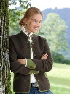 Die 8 besten Bilder zu Walkjacke   jacken, dirndl, mode