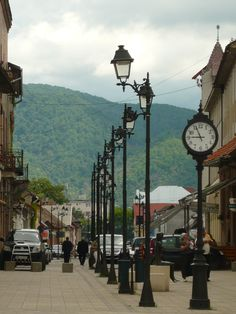Baia Mare, Centrul Vechi Amazing Places, Wonderful Places, Beautiful Places, Europe Street, Outdoor Lamps, Street Lamp, Close To Home, Street Photo, Big Ben