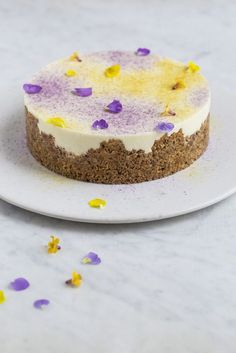 cheesecake med hvid chokolade og citron