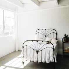 Lovely minimal bedroom.