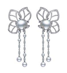 Mikimoto Magnolia pearl earrings.    The Jewellery Editor