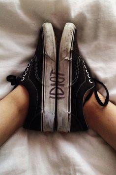 IIDonuttCaree... I wouldn't neccessarily write THIS on my shoes... but this is the BEST IDEA EVER! -<3, Paige Palmer xx<3xx