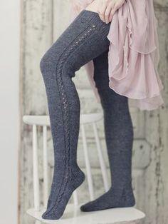 Over-knee strumpor Novita Nalle Crochet Socks, Knitting Socks, Knit Crochet, Sexy Socks, Donia, Wool Socks, Knitting Accessories, Vintage Knitting, Kind Mode