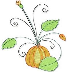 Pumpkin Swirl 5x7 | Fall | Machine Embroidery Designs | SWAKembroidery.com Bunnycup Embroidery