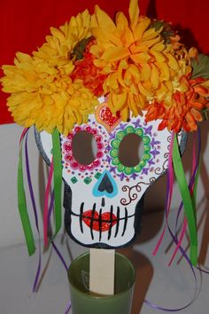 finished day of the dead mask