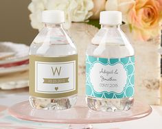 Personalized Wedding Water Labels