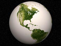 """Nasa mostra o Planeta """"verde"""" visto do espaço"""