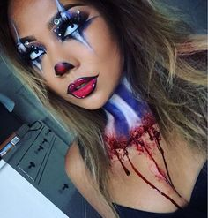 Scary but sexy clown makeup