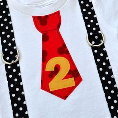 Mickey Mouse Birthday Inspired Tie and by TheBaerEssentials