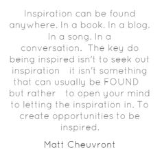 The Key to Inspiration @mattchevy @proofbranding