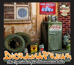 Vintage alter Kühlschrank Diorama Deko Zubehör 1/18 für Werkstatt Garage Diorama   eBay