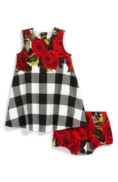 Dolce&Gabbana Sleeveless Dress & Bloomers (Baby Girls) available at #Nordstrom