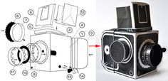 Build your own Working Cardboard Hassleblad Pinhole Camera.  Free pdf download with instructions (video too).  Uses 35 mm film!