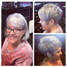 This haircut looks amazing #pixie #nothingbutpixies #beforeandafter