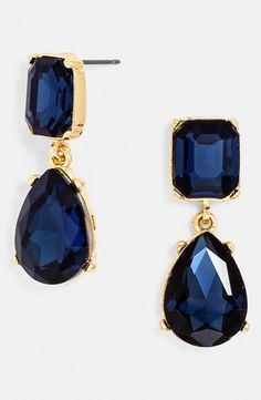 Sapphire Blue Drop Earrings in Classic Blue | Pantone Spring 2015