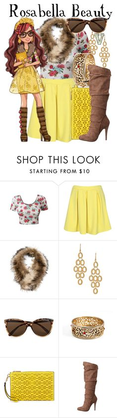 """Rosabella Beauty (Ever After High)"" by fabfandoms ❤ liked on Polyvore featuring LE3NO, Boohoo, Argento Vivo, Vero Moda, ALDO, Michael Antonio, women's clothing, women, female and woman"