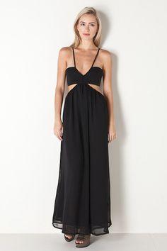 Wild Side Maxi Dress in Black by stylestalker for $222.00