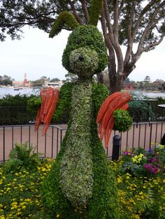 Rabbit Topiary from the Epcot Flower and Garden Festival - Take the Full Photo Tour!