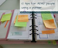 Tips For A Better Diet 10 tips for ADHD people using a planner ~ From Chaos to Order Study Skills, Study Tips, Coping Skills, Planners, Planner Tips, 2017 Planner, Work Planner, Planner Journal, Life Planner